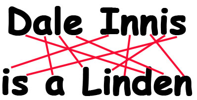 "An Illustrative Diagram, in which it is shown that ""Dale Innis"" and ""is a Linden"" contain the same set of letters."